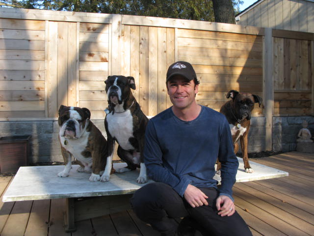 Canadian-actor-Yannick-Bisson-Murdoch-Mysteries-and-his-boxers-and-bull-dog